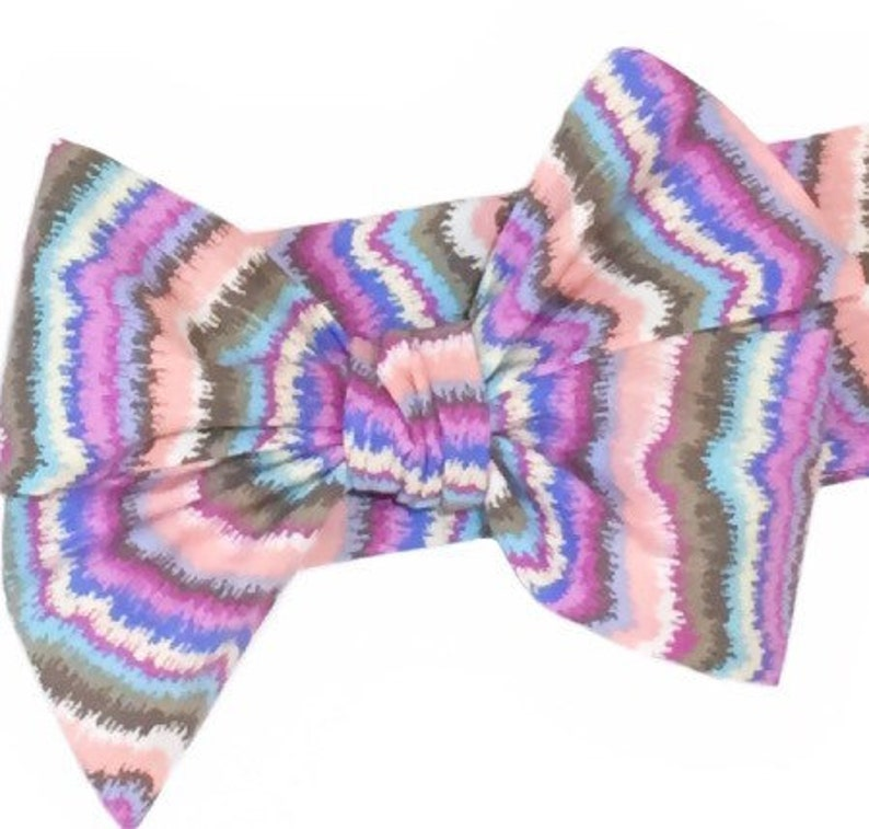 Purple & Pink Headwrap Girls Headwrap Baby Headwrap image 0