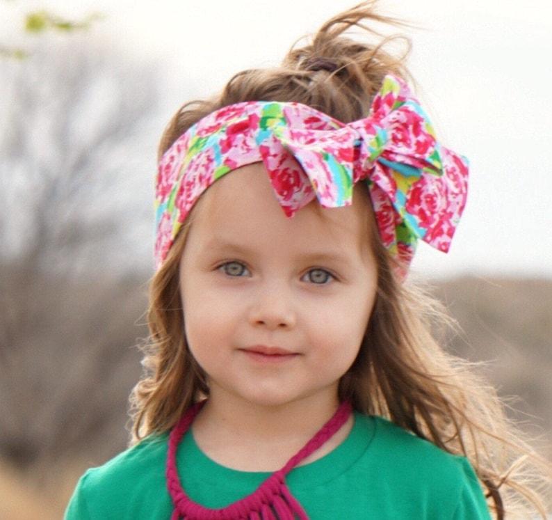 Floral Headwrap Girls Headwrap Baby Girl Headwrap Head image 0
