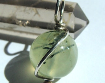 Jewelryonclick Sterling Silver Pendant Natural Prehnite Charm Green Checker Cut Stone Handmade Necklace