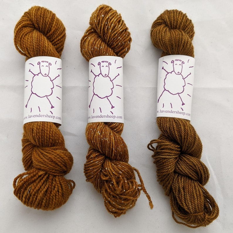 Toffee Mini Yarn Skeins  50 yards image 0