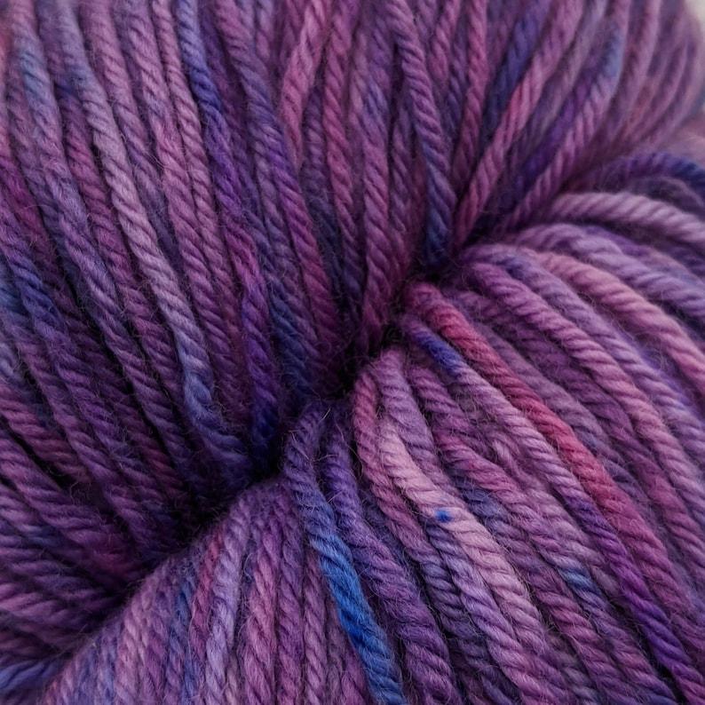Berry Pie Superwash Merino Worsted Yarn  8oz 228 grams image 0