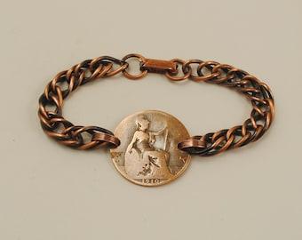 British Coin Bracelet 1910 Half Penny