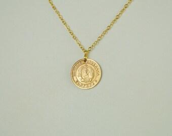 Bulgaria Coin Necklace 1951
