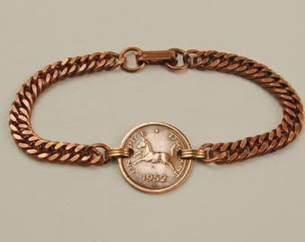 India Coin Bracelet 1952 Prancing Horse