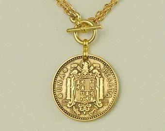 Spain Coin Necklace 1963 Peseta