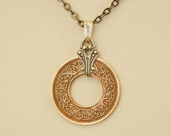 British India Coin Necklace 1945 Pice
