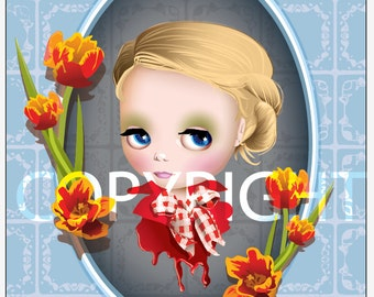 Saffron Tulip 8x10 Fine Art Print