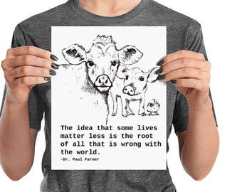 Vegan art Animal Rights Poster