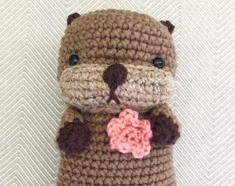 Amigurumi Crochet Sea Otter Pattern Digital Download