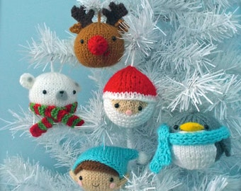 Amigurumi Knit Christmas Balls Ornament Pattern Set Digital Download