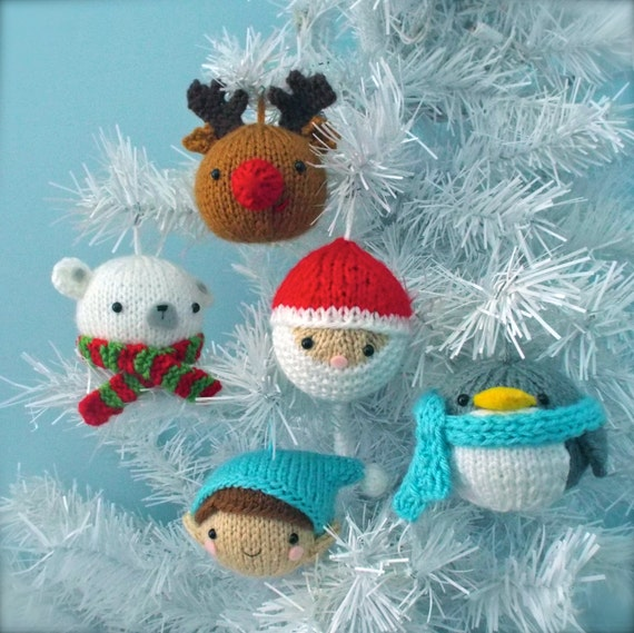 Amigurumi Knit Christmas Balls Ornament Pattern Set Digital Download - Amigurumi Knit Christmas Balls Ornament Pattern Set Digital Etsy