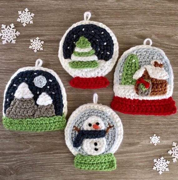 Amigurumi Crochet Snow Globe Christmas Ornament Pattern
