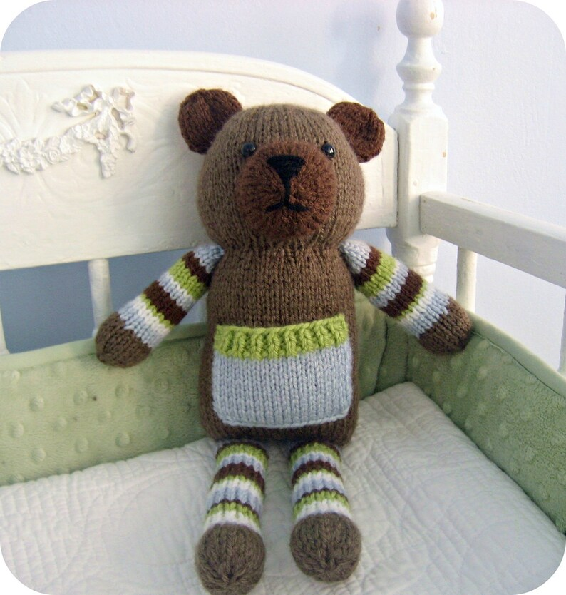 Amigurumi Knit Pocket Bear Pattern Digital Download image 0