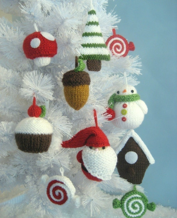 image 0 - Amigurumi Knit Christmas Ornament Pattern Set Digital Download Etsy