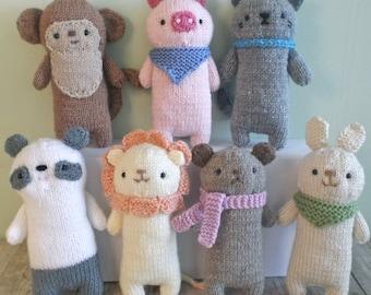 Amigurumi Knit Baby Animals Pattern Set Digital Download