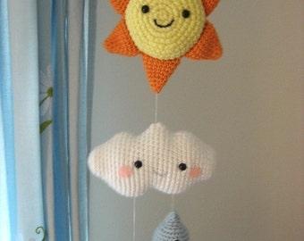 Amigurumi Crochet Happy Weather Mobile Pattern Digital Download