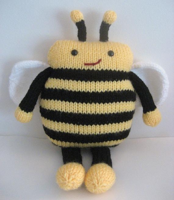 Sale Amigurumi Knit Bee Pattern Digital Download