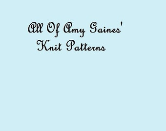 All of Amy Gaines Knit Patterns PDF