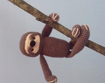 Amigurumi Crochet Sloth Pattern Digital Download