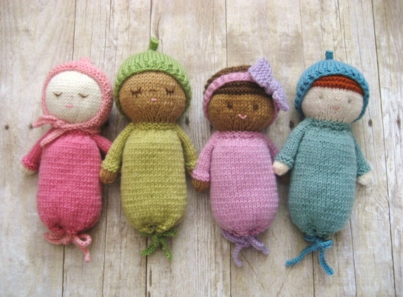 Amigurumi Knit Baby Doll Patterns Digital Download Etsy