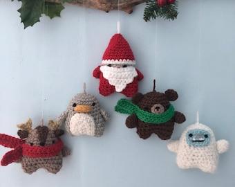Amigurumi Crochet Christmas 2021 Ornament Patterns Digital Download