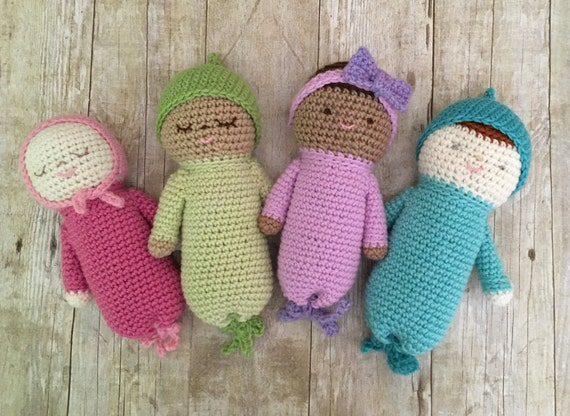 Amigurumi Crochet Baby Doll Patterns Digital Download Etsy Adorable Crochet Baby Doll Pattern
