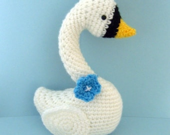 Amigurumi Crochet Swan Pattern Digital Download