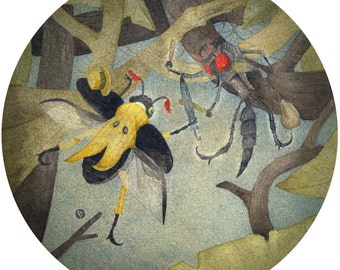 The Robber Fly - First Edition Giclee