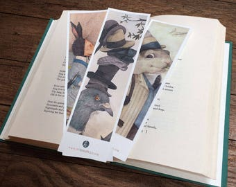 The Woodland Pack 1 - Illustrated set of 3 laminated Bookmarks