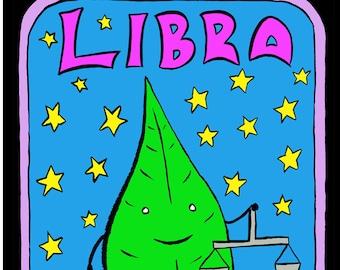 Libra - Mr Toast Zodiac Framed Print