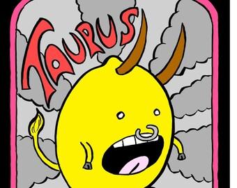 Taurus - Mr Toast Zodiac Framed Print