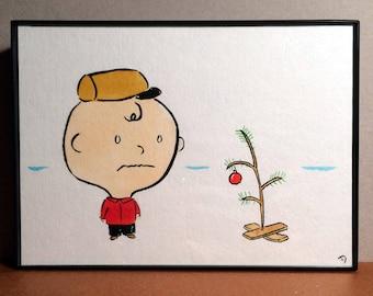 Charlie Brown Christmas original Drawing