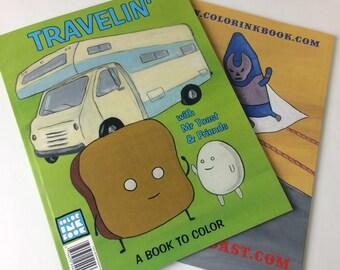 Mr Toast Travlin' Coloring Book