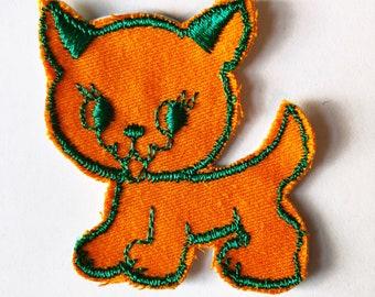 Vintage Pumpkin Cat Patch
