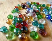 Crystal Beads 400 Faceted Rondelles 6mm x 4mm mixed colors assorted lot wholesale bulk