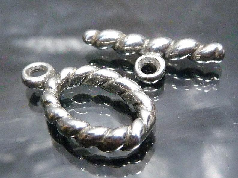 Big Bali Sterling Silver Toggle Clasp Bar Hoop 17mm Bracelet Etsy