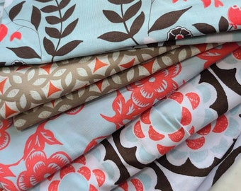 Bundle of Ty Pennington Impressions Fabrics. Quilting Cotton, Hard To Find, Rare. 14 Ounces Mixed Sizes. Large Cuts.