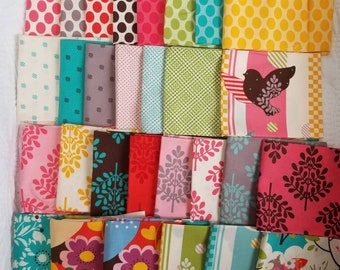 29 Fat Quarters It's a Hoot by Momo for Moda Cotton Fabric, 7.25 Yards Total. Bundle of Quilting Fabric. Extremely Hard to Find and Rare