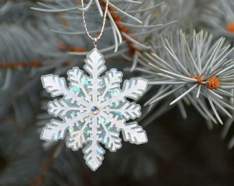Set of 5 Christmas tree ornaments, Resin ornaments, Christmas decorations, Christmas tree decorations, Christmas gift, Epoxy Christmas decor