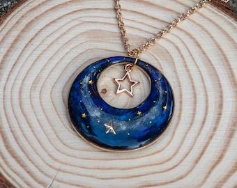 Galaxy Necklace Starry Night Pendant