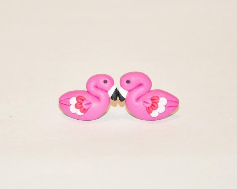 Orecchini Fenicotteri Rosa Orecchini a Perno Kawaii  63398bcb4f1a