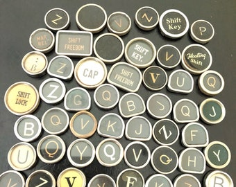 Vintage TYPEWRITER Keys Lot 50 Keys Lot 10