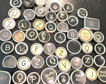 Vintage TYPEWRITER Keys Lot 50 Keys Lot 4