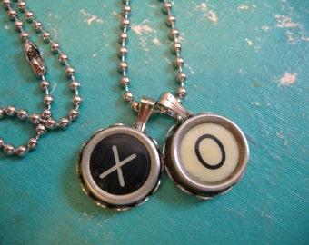 TYPEWRITER KEY NECKLACE Custom 2 Keys Charm Vintage Mommy Initials