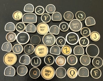 Vintage TYPEWRITER Keys Lot 50 Keys Lot 7
