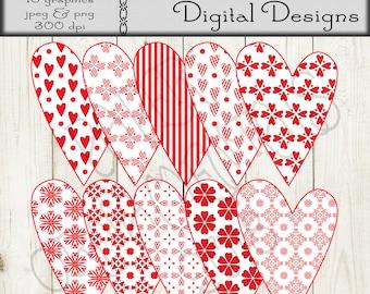 Instant Digital Download Alphabet Set Valentine Alphabet Etsy