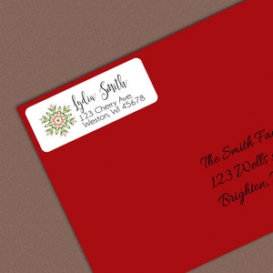 A Star Above Personalized Christmas Card Address Stickers Christmas Card Return Address, Personalized Address Label, 2 inch stickers
