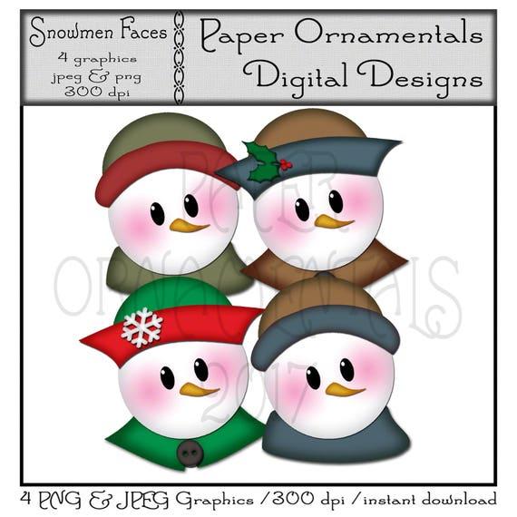 Snowmen fun family clipart, graphics, illustrations AMB-1512 By  AMBillustrations | TheHungryJPEG.com