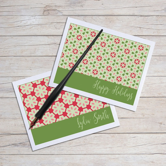Christmas Notecard.Personalized Note Cards Holiday Cards Christmas Notecard Stationery Holiday Stationary Blank Note Card Set Blank Cards Stationery Set