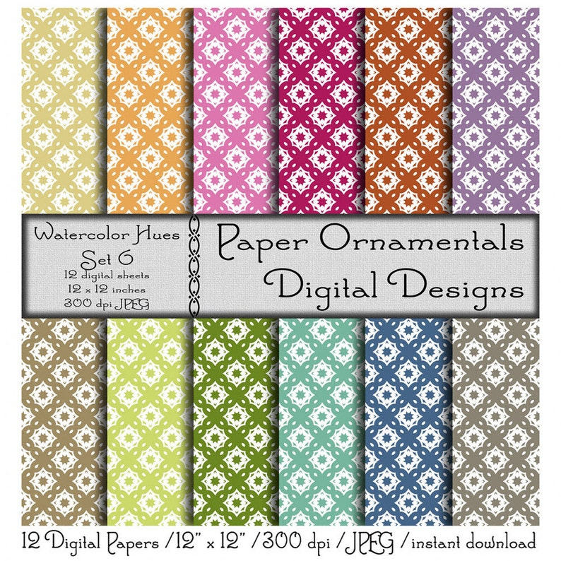 picture relating to Printable Paper Patterns named Electronic Sbook Paper, Prompt Electronic Obtain Printable Paper, Designer Paper Behaviors, Electronic Paper Pack, Watercolor Colors